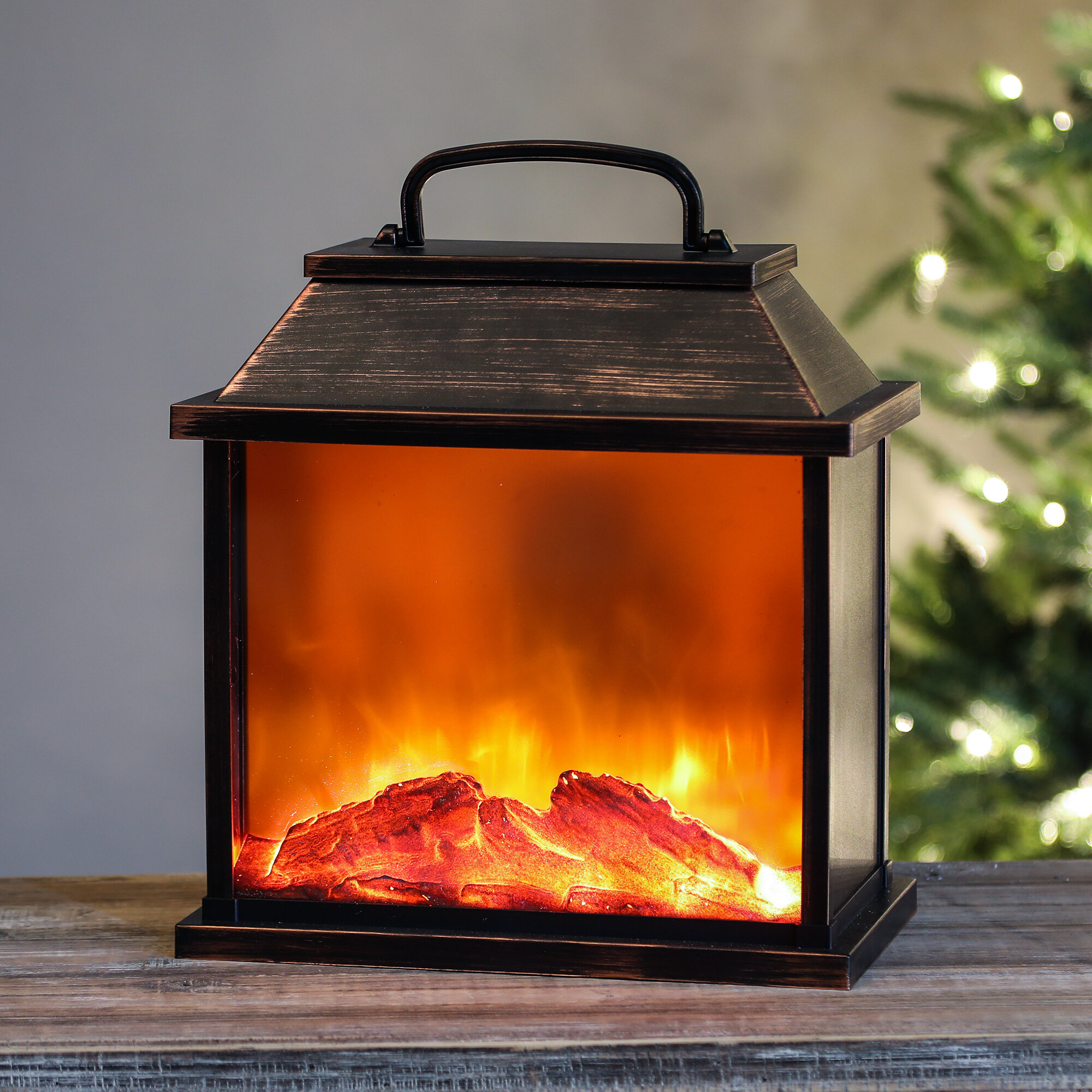 Awesome Details About Millwood Pines Faux Fireplace Led Plastic Lantern Wnhs1307 Download Free Architecture Designs Lukepmadebymaigaardcom