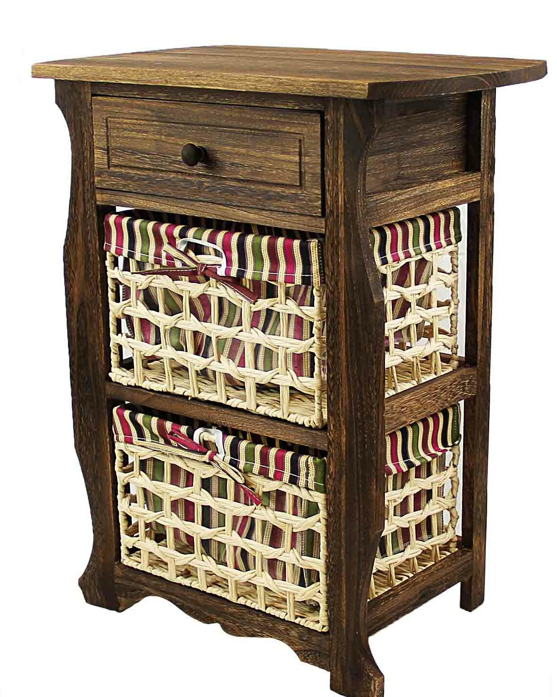 Details About Millwood Pines Long Ashton Wood Storage 1 Drawer Nightstand