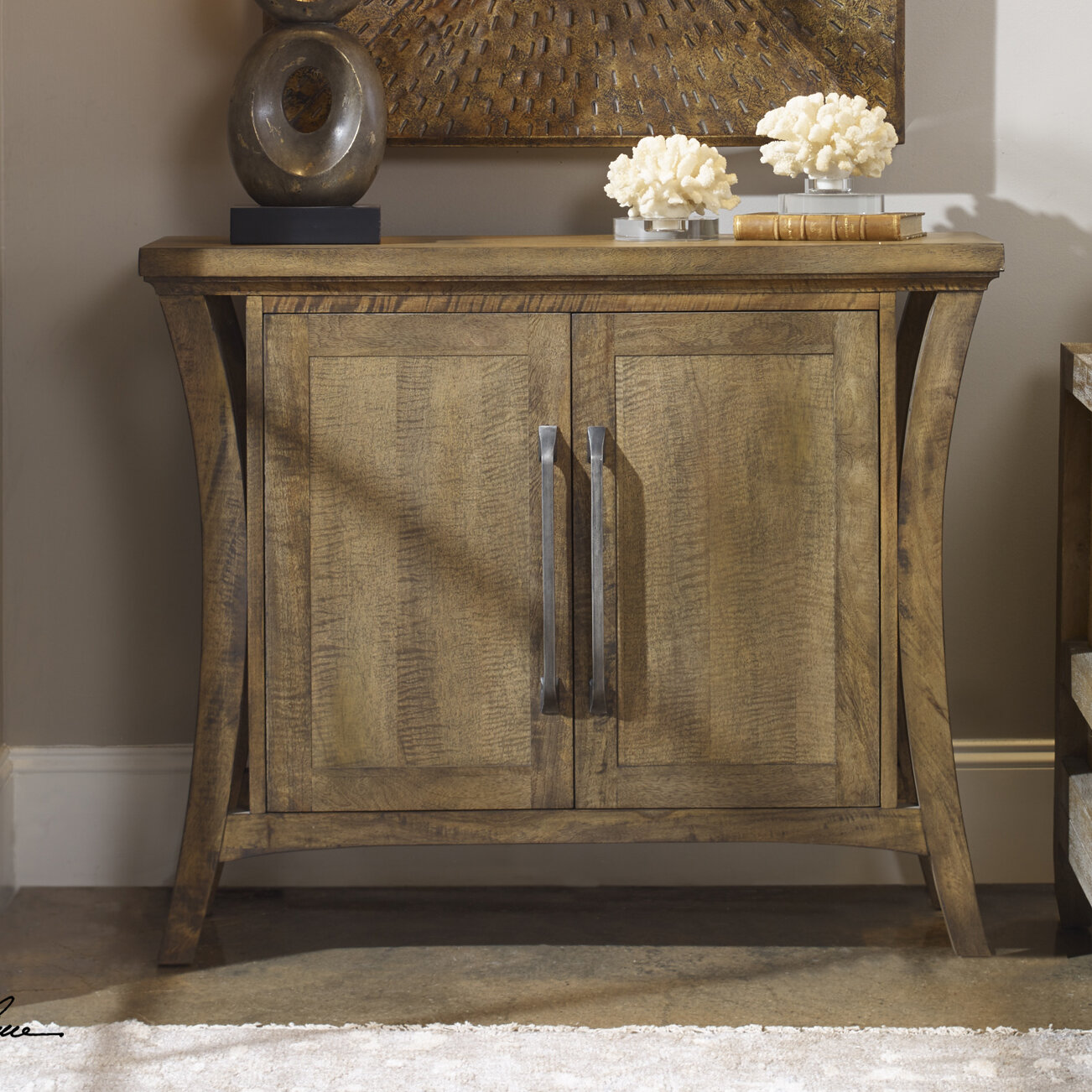 Details About Gracie Oaks Remi Distressed 2 Door Accent Cabinet