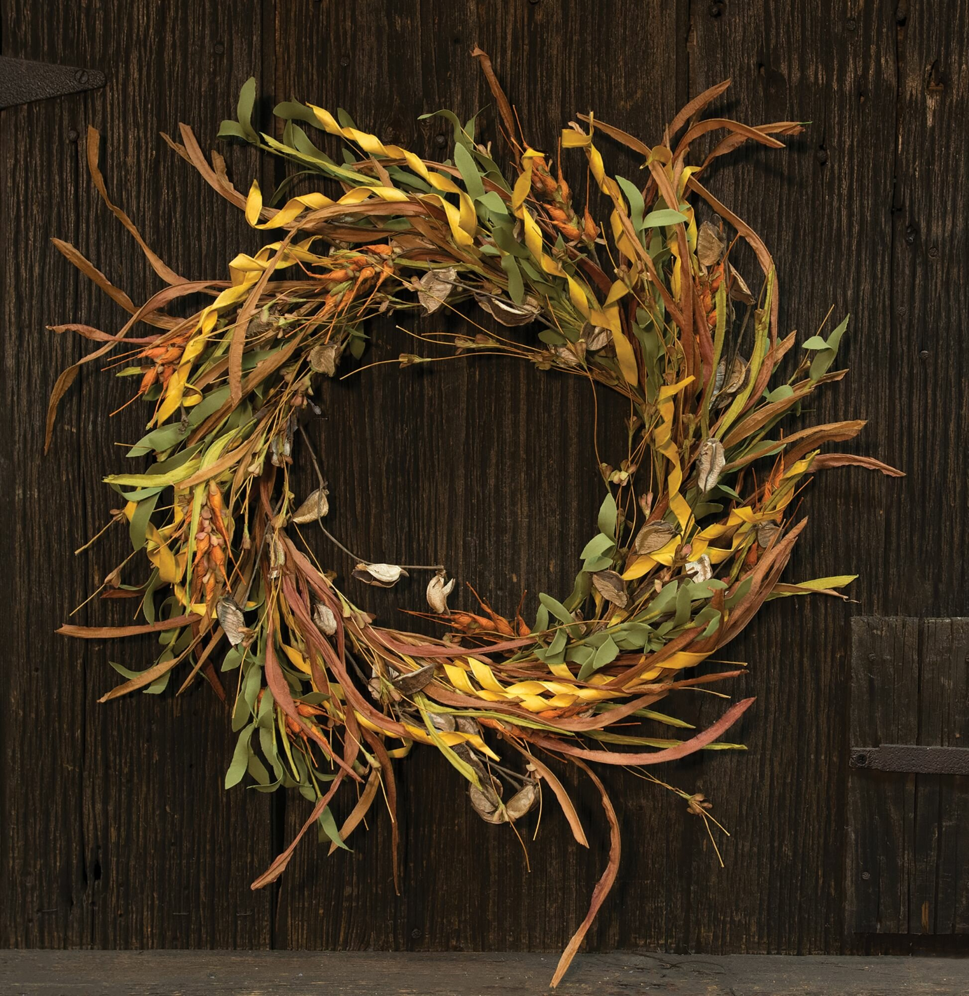 Gracie Oaks Wheat and Grass 4/' Garland