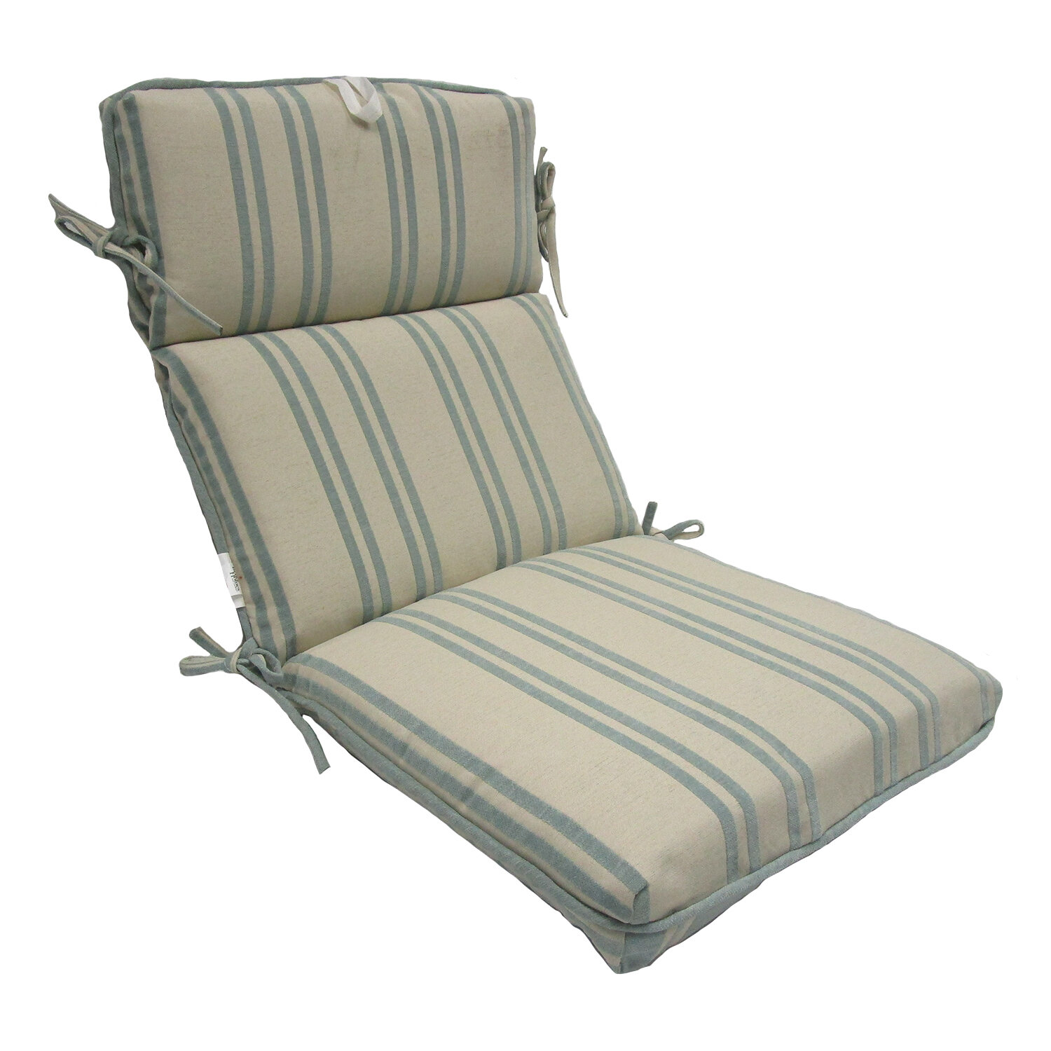Highland Dunes Stripe High Back Outdoor Lounge Chair Cushion Ebay