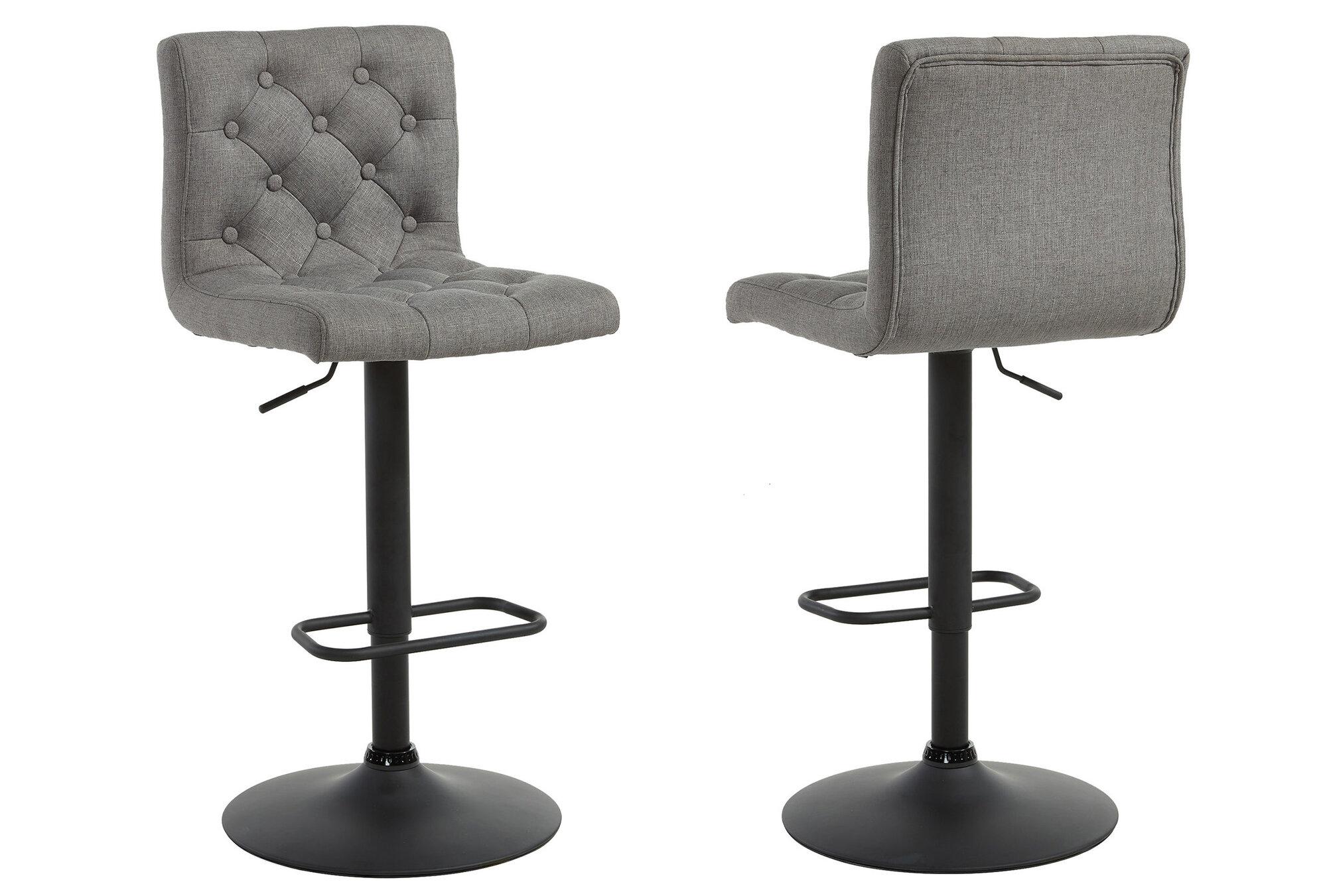 Astounding Details About Ebern Designs Witney Adjustable Height Swivel Bar Stool Gray Set Of 2 Ncnpc Chair Design For Home Ncnpcorg