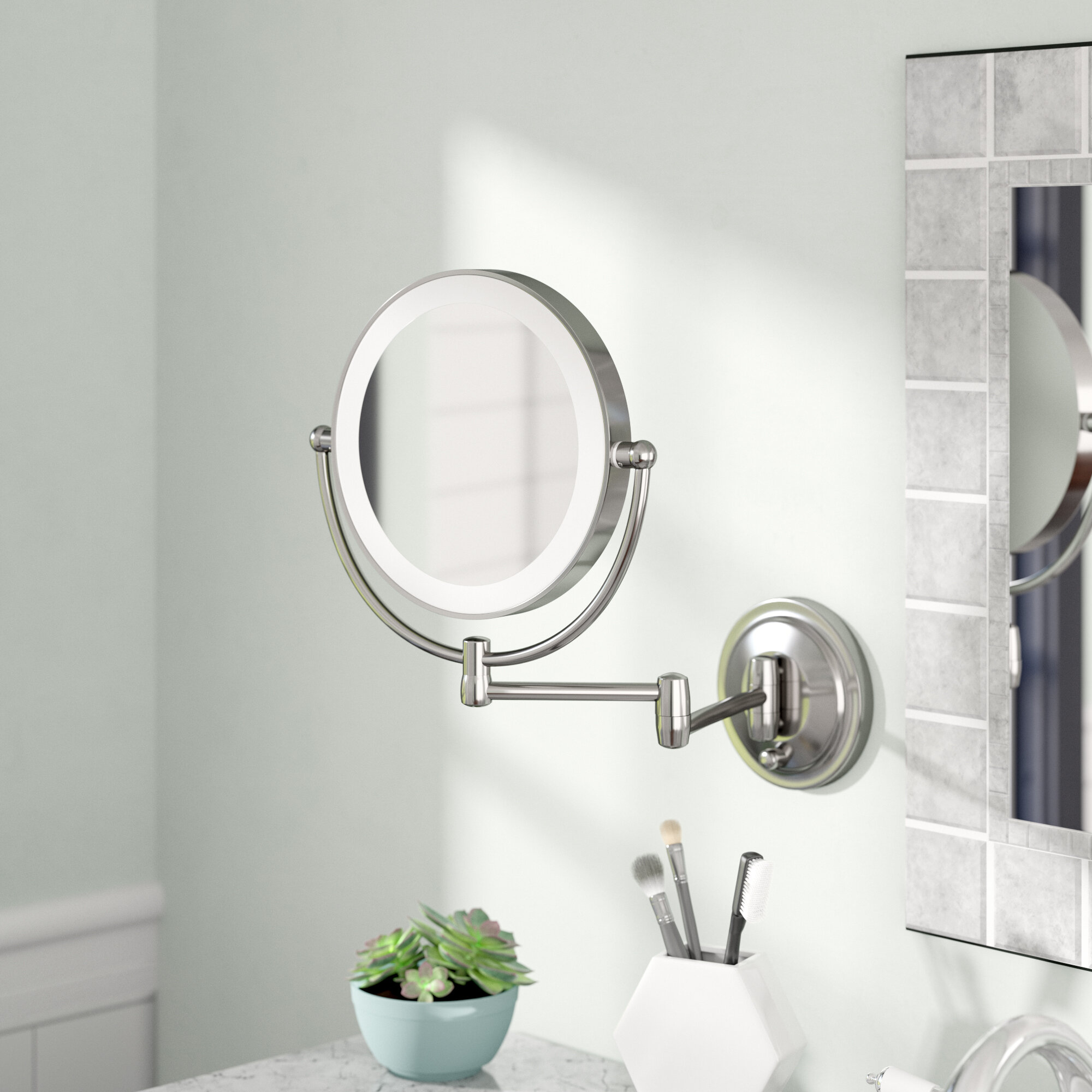 Details About Ebern Designs Capri Dual Led Lighted Wall Mirror