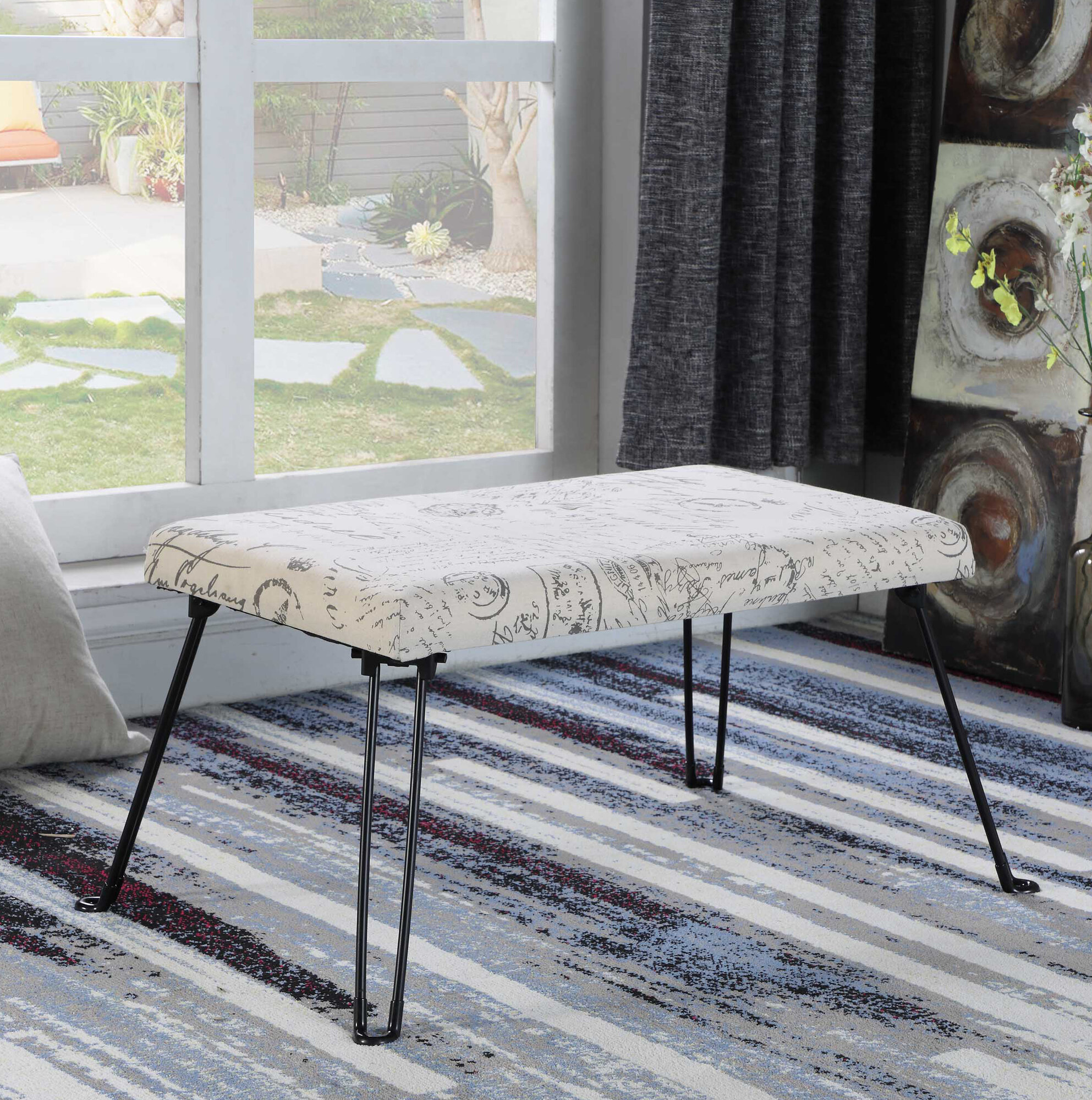 Admirable Details About Ophelia Co Arthemus Backless Vanity Stool Ncnpc Chair Design For Home Ncnpcorg