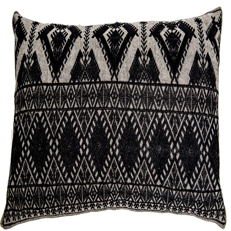 Bloomsbury Market Ouzts Diamond Geo Embroidery Pillow Cover Black Ebay