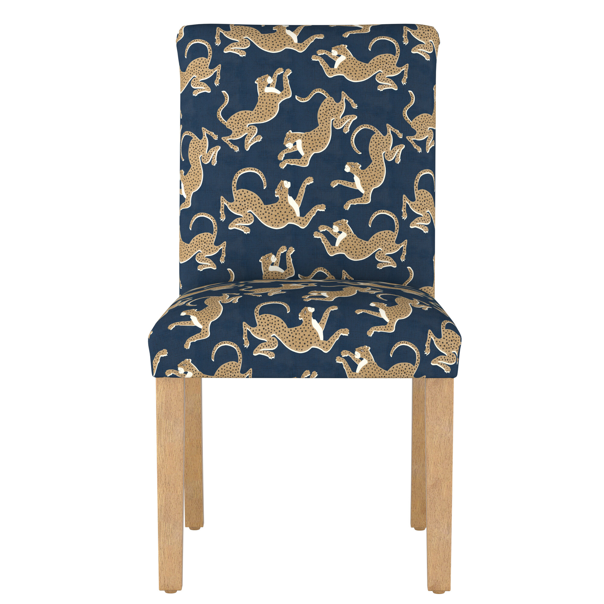 Details About Bloomsbury Market Malaya Leopard Upholstered Dining Chair