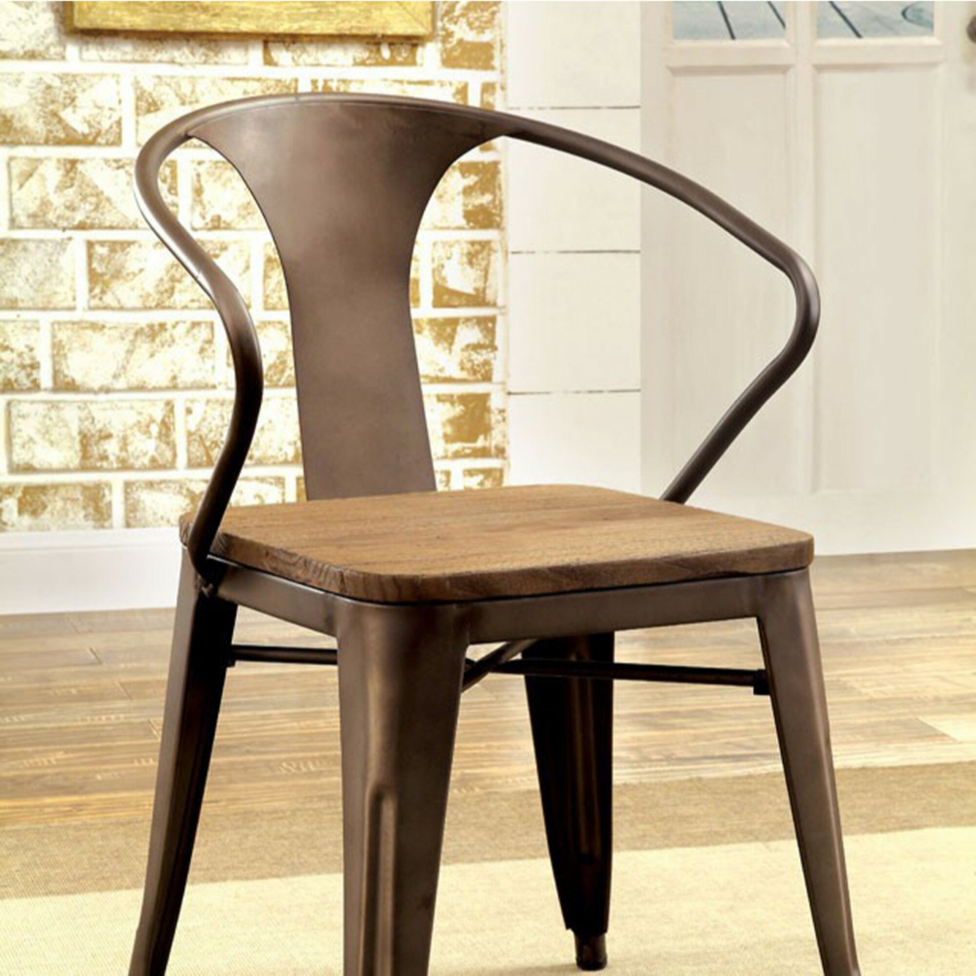 Fine Details About 17 Stories Carlo Industrial Dining Chair Set Of 2 Alphanode Cool Chair Designs And Ideas Alphanodeonline