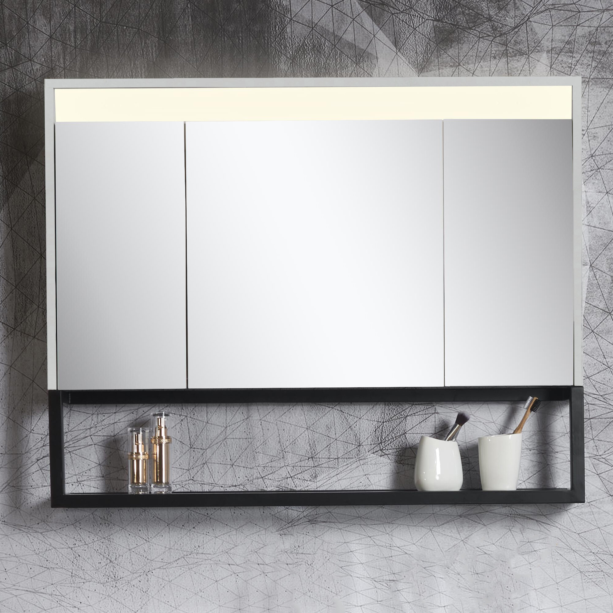 Fabulous Details About Forney 39 37 X 31 49 Surface Mount Medicine Cabinet With Led Lighting Download Free Architecture Designs Rallybritishbridgeorg