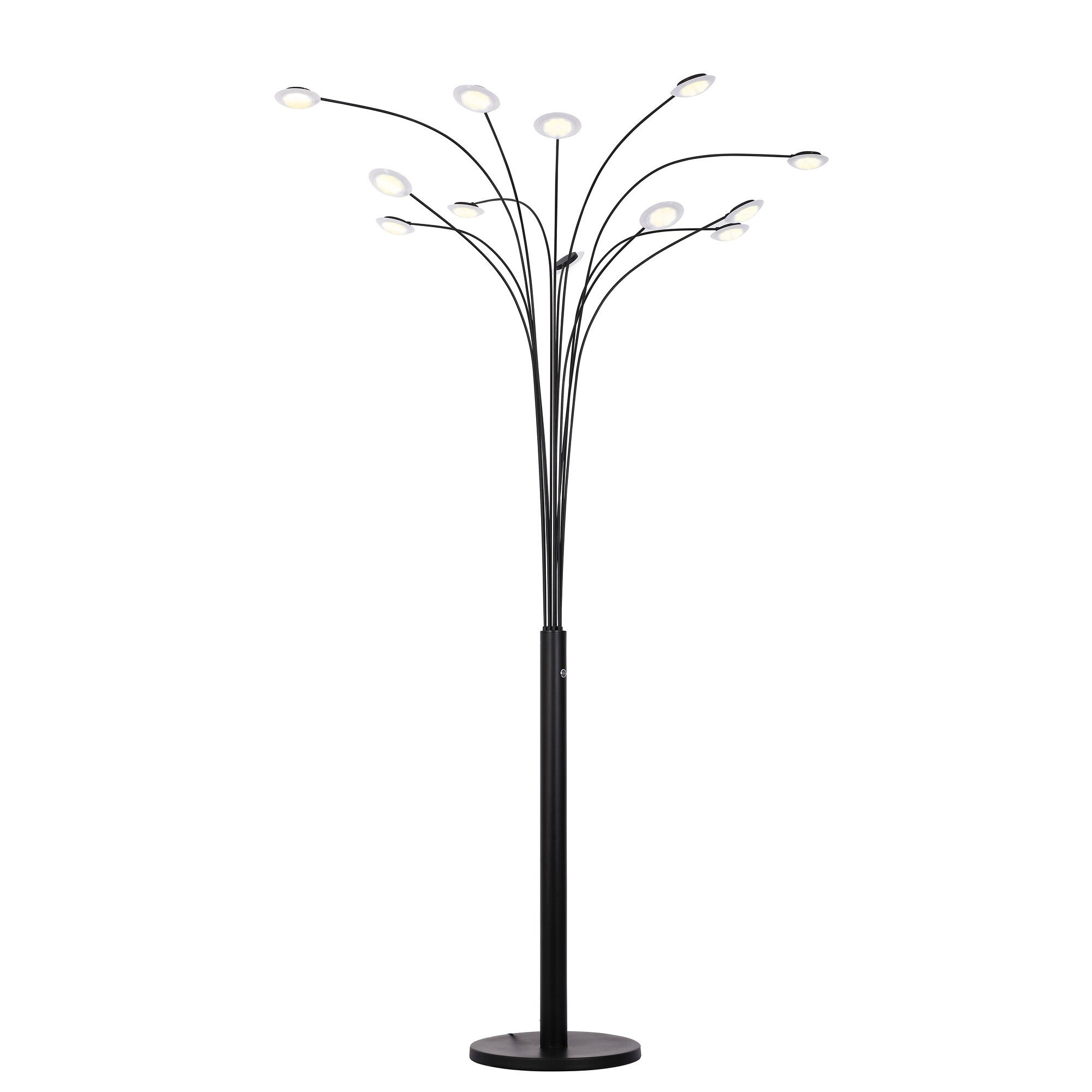 Orren Ellis Brinkerhoff 84 Quot Led Tree Floor Lamp Ebay