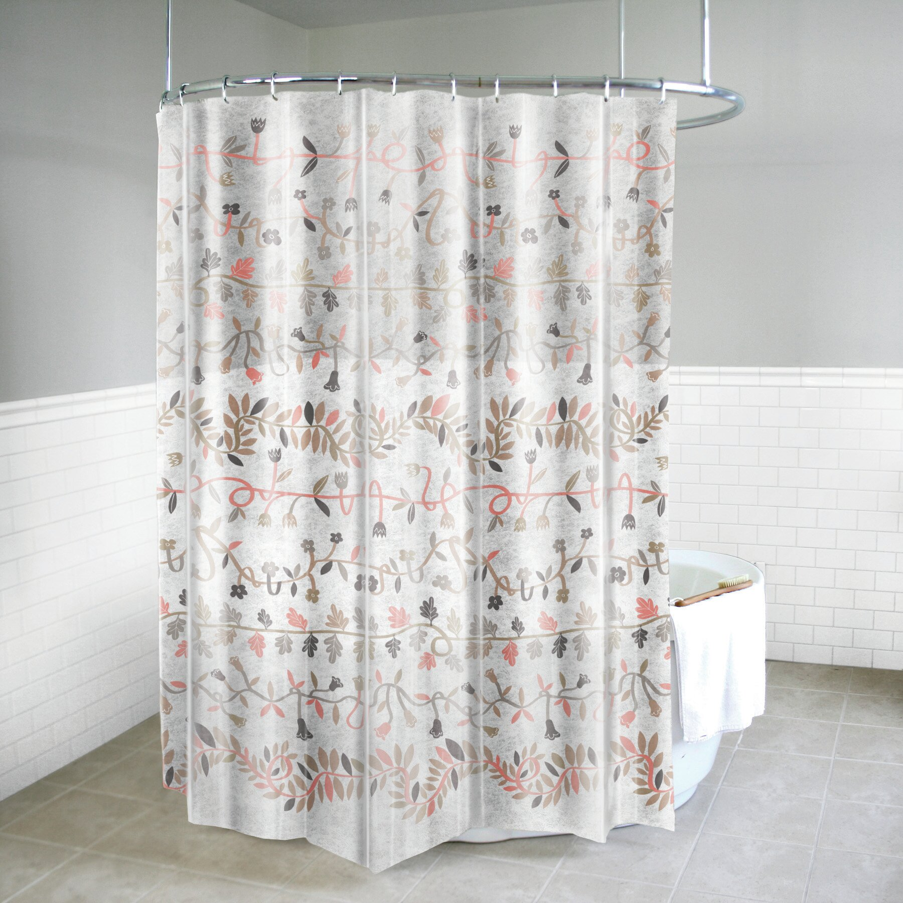 Details About Winston Porter Maskell Peva 5g Ivy Vinyl Single Shower Curtain Liner