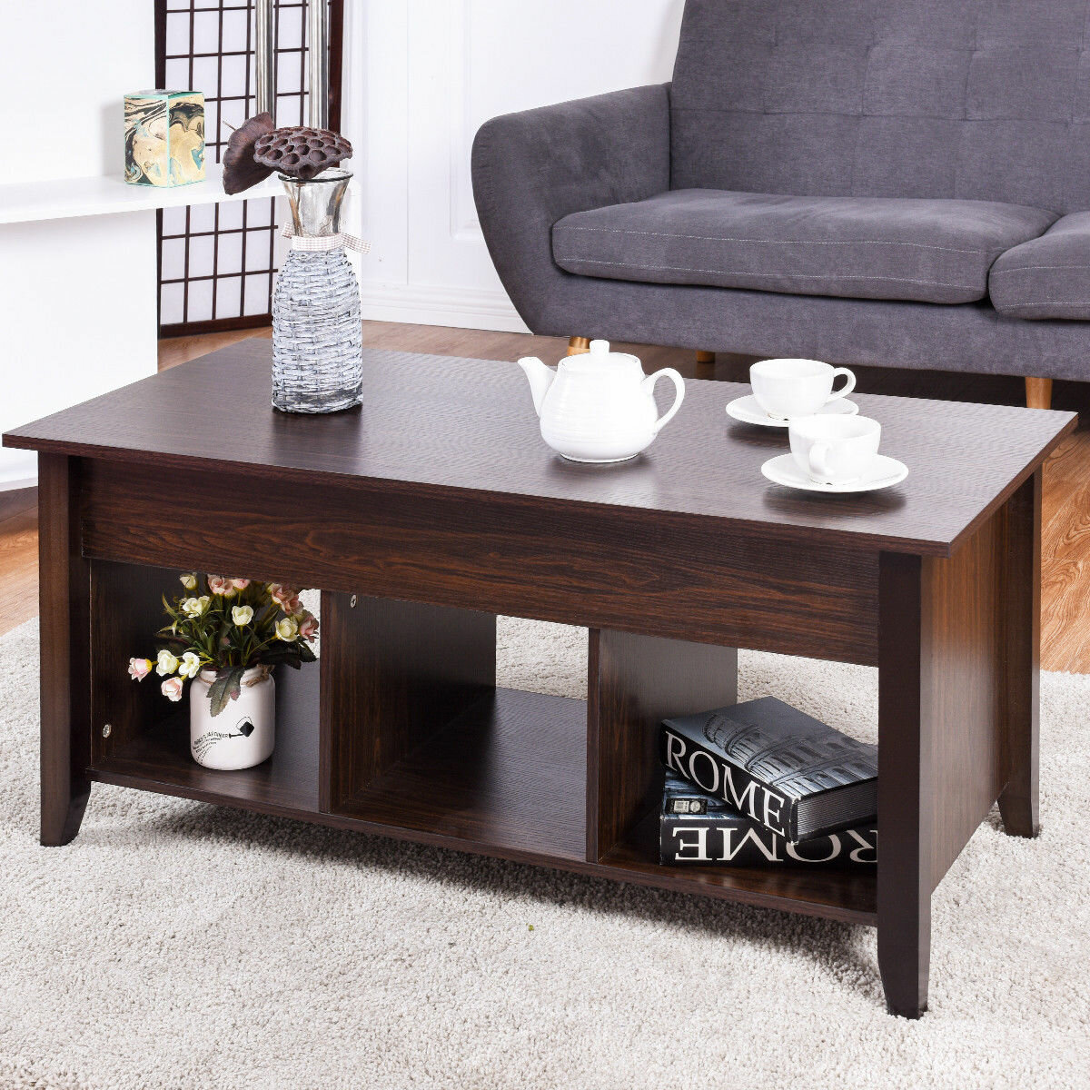 Pleasant Details About Winston Porter Bellefontaine Lift Top Coffee Table Ocoug Best Dining Table And Chair Ideas Images Ocougorg