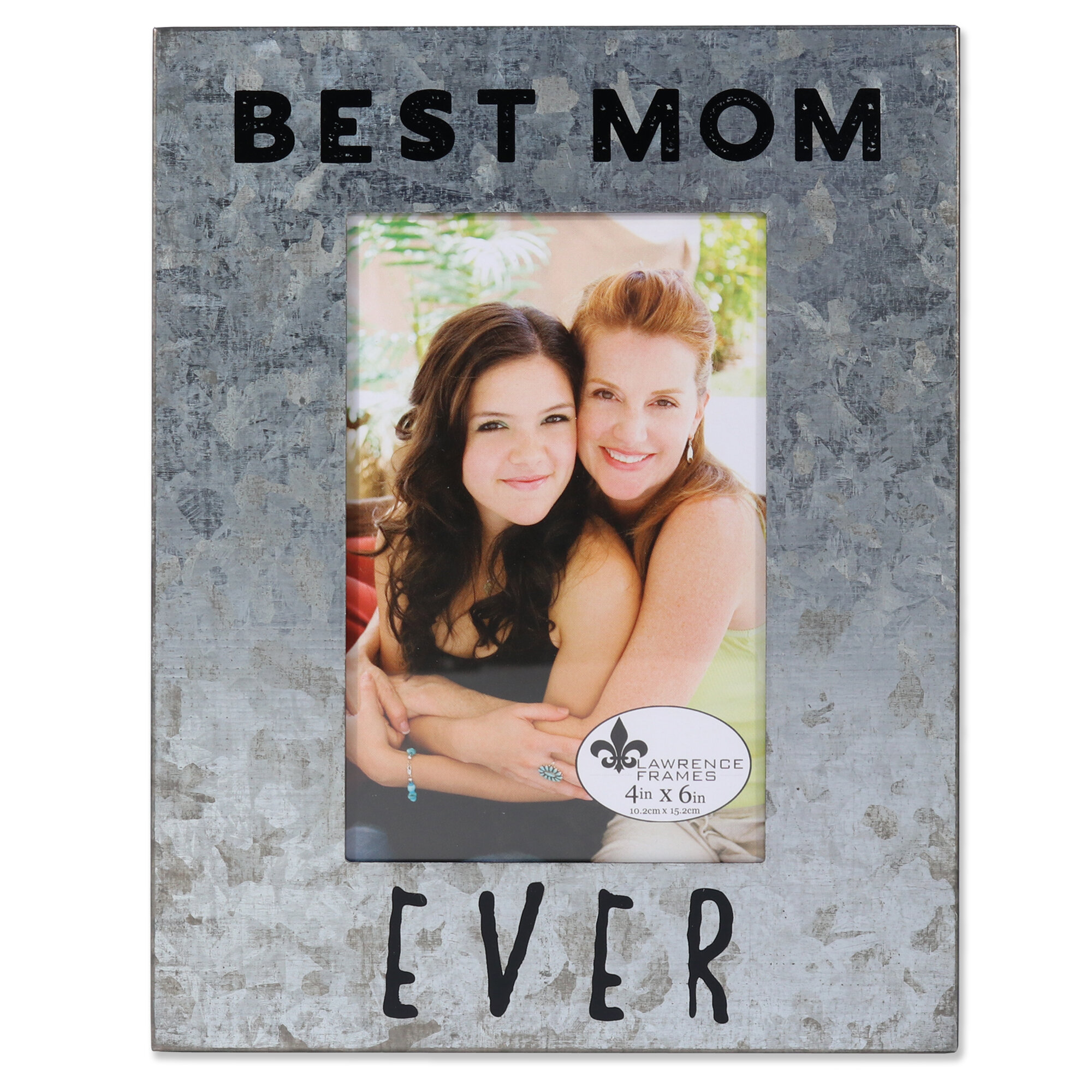 Winston Porter Bevin Galvanized Best Mom Ever Picture Frame