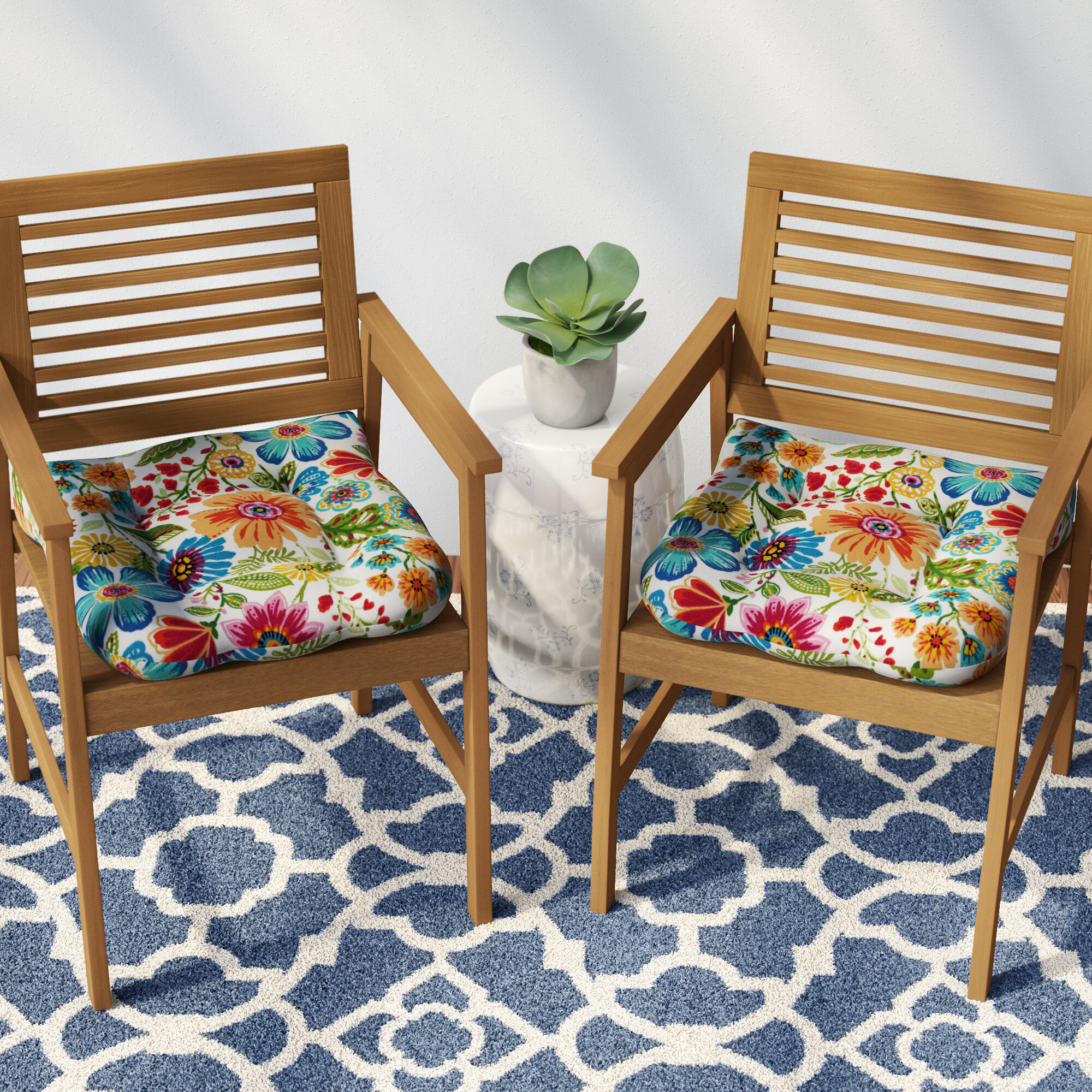 Details About Winston Porter Indoor Outdoor Patio Chair Cushion Set Of 2