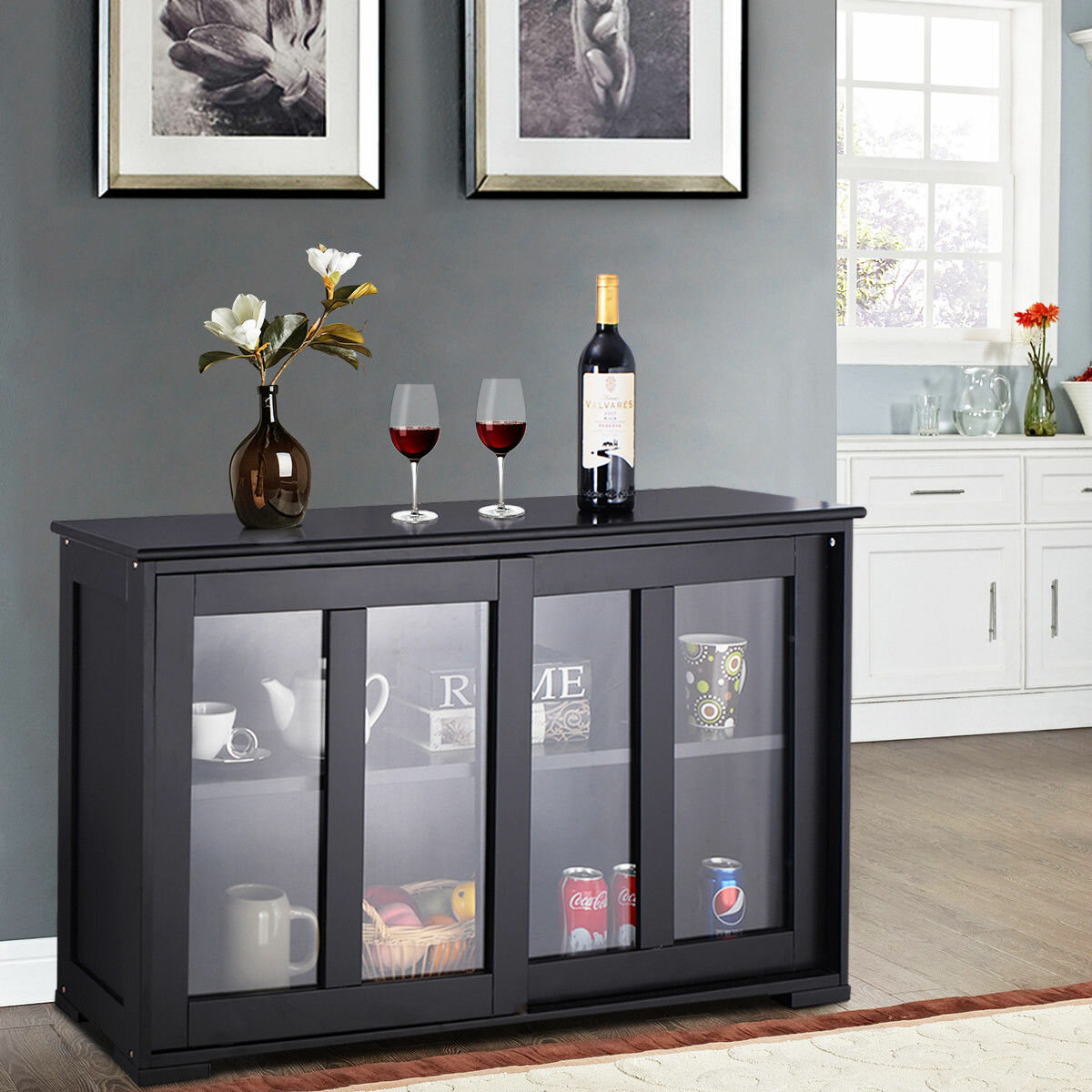 timeless design e4fe0 4def6 Details about Winston Porter Belpre Sideboard Buffet Table