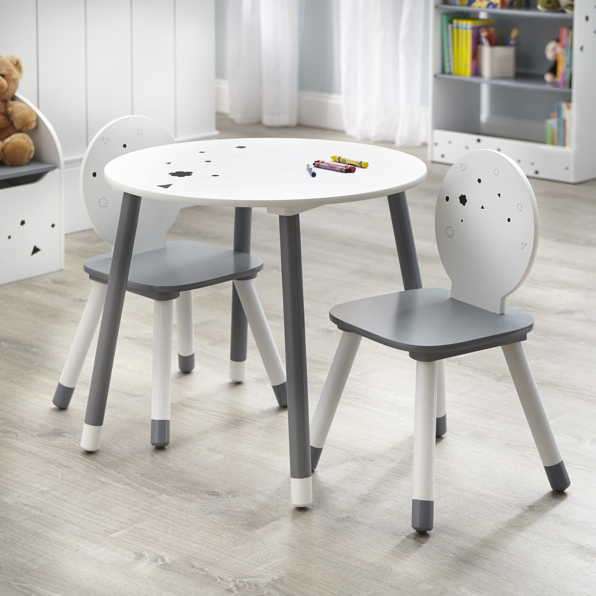 Super Details About Harriet Bee Camborne Kids 3 Piece Writing Table And Chair Set Pdpeps Interior Chair Design Pdpepsorg