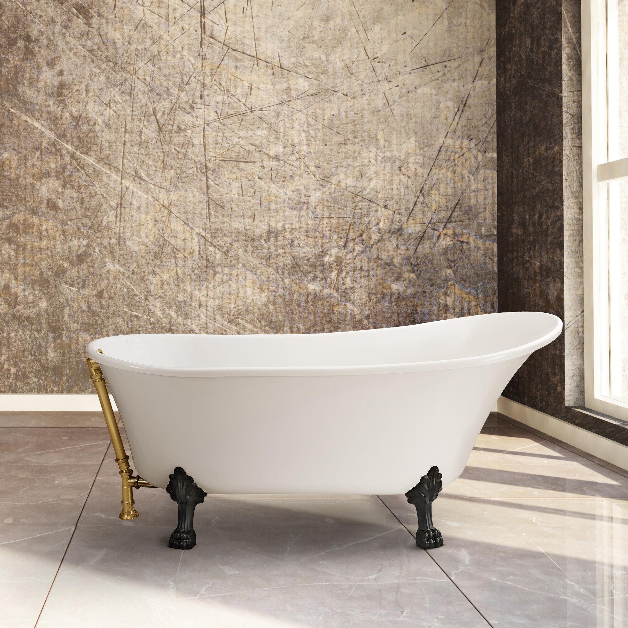 Streamline Bath 60 X 28 Freestanding Soaking Bathtub Ebay