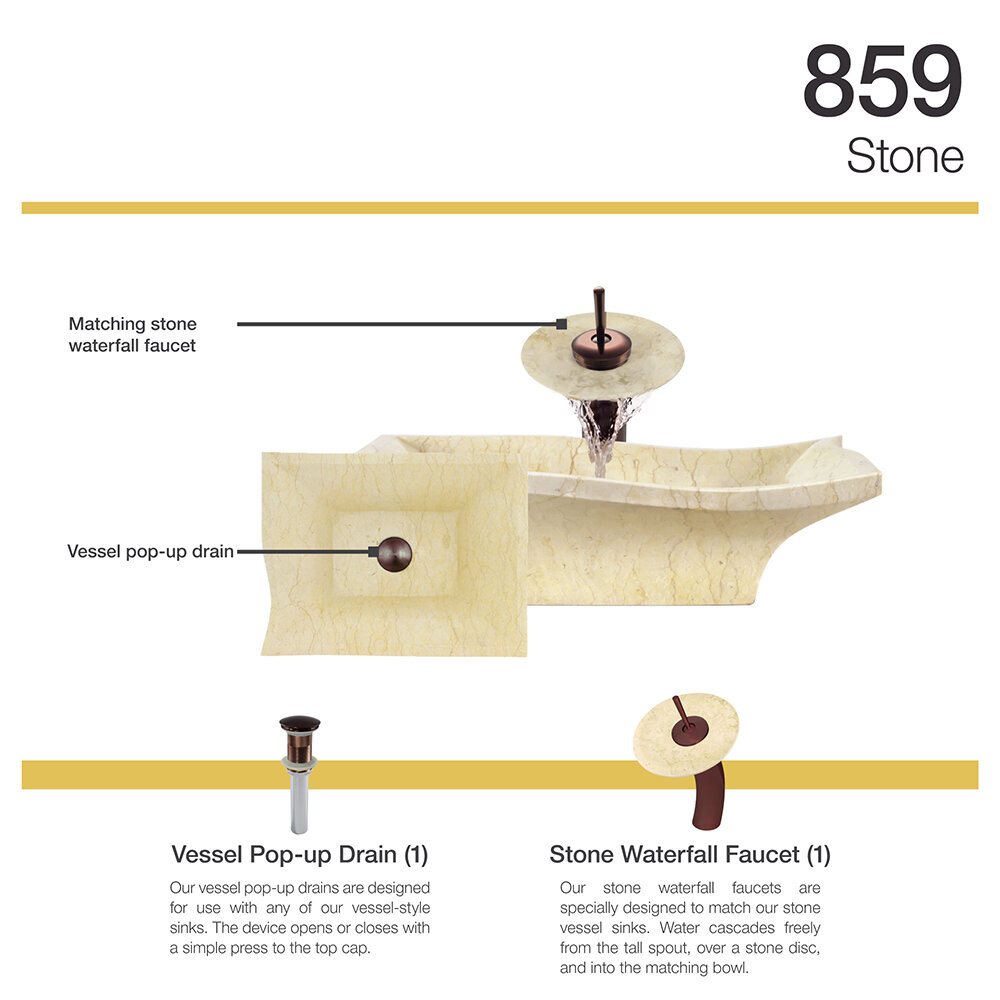 MR Direct Egyptian Stone Specialty Vessel Bathroom Sink with Faucet ...