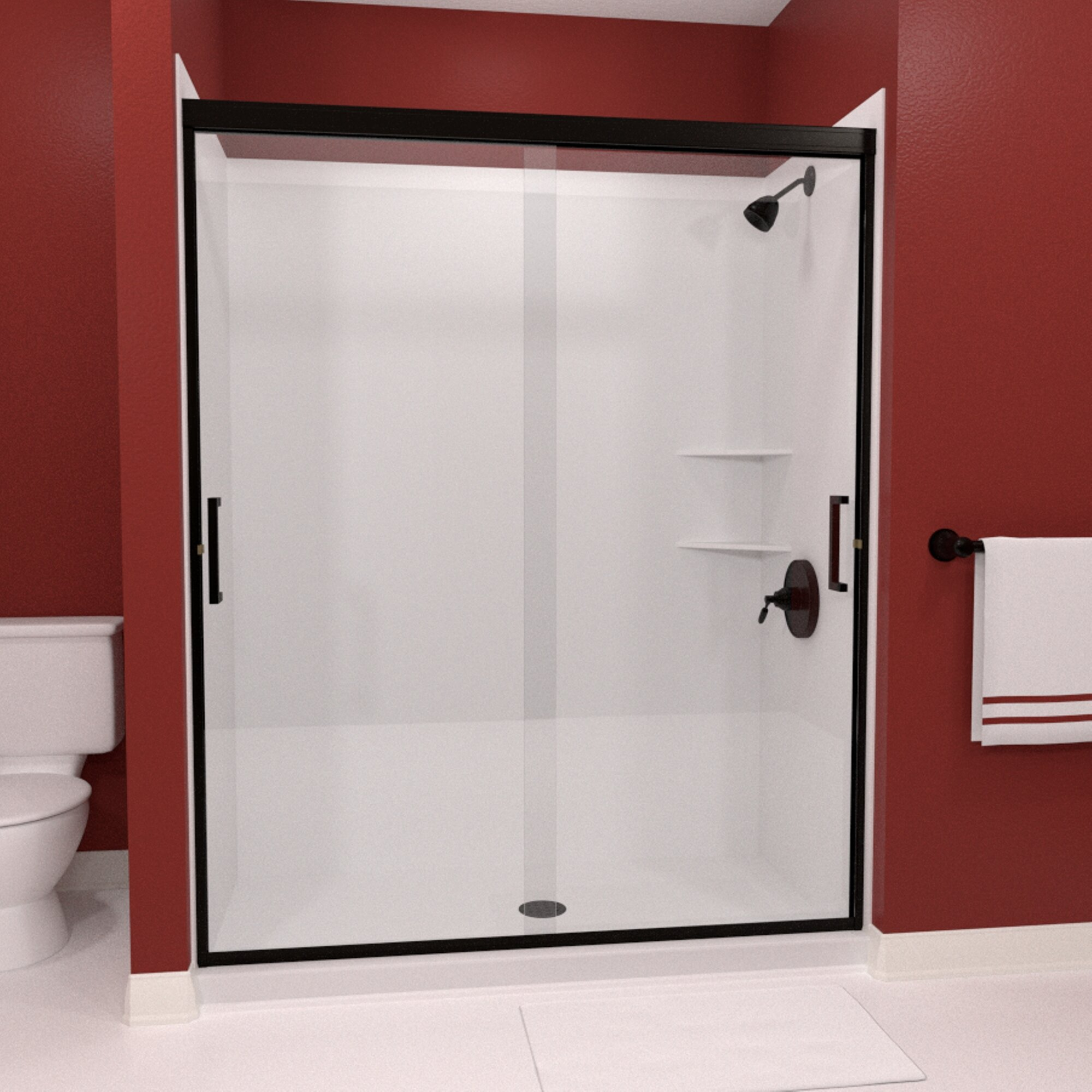 Details About Tombstone 48 X70 4 Bypass Semi Frameless Shower Door Anodized Oil Rubbed Bronze