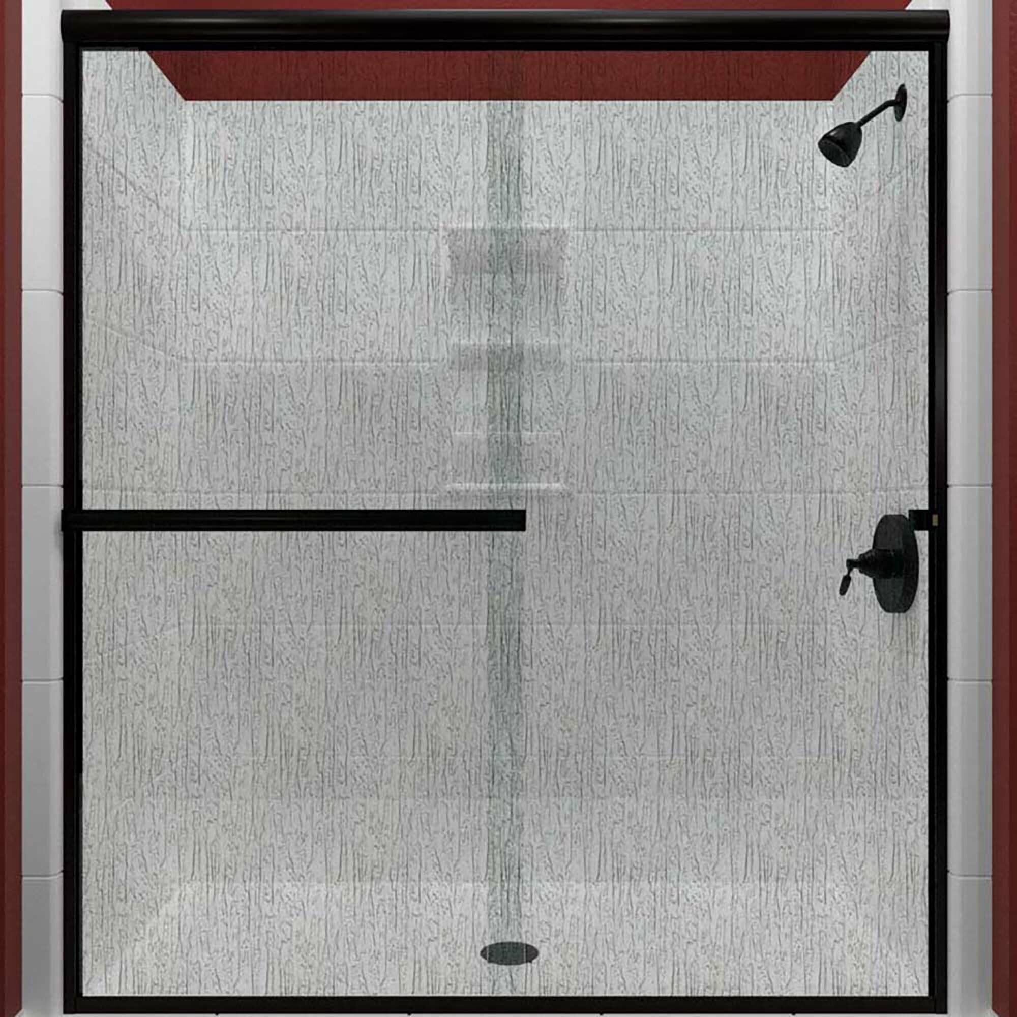 Details About Lese 60 X 70 38 Bypass Semi Frameless Shower Door Rain Glass Brushed Nickel