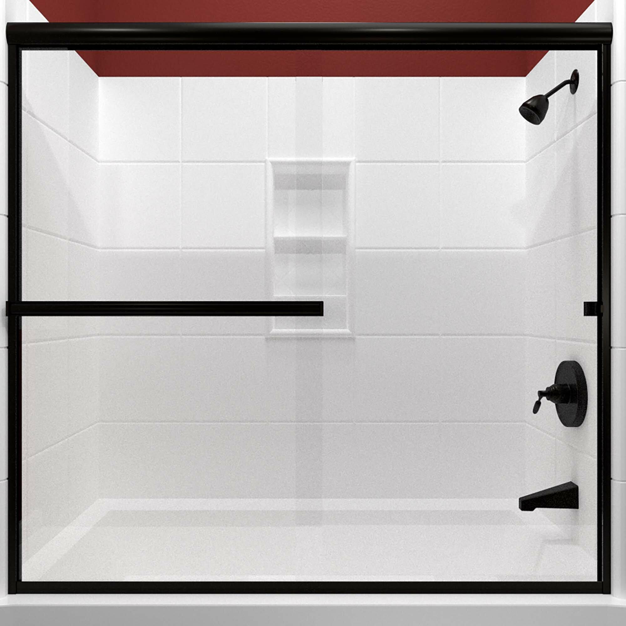 Details About Lete 66 X 57 38 Bypass Semi Frameless Tub Door Anodized Oil Rubbed Bronze