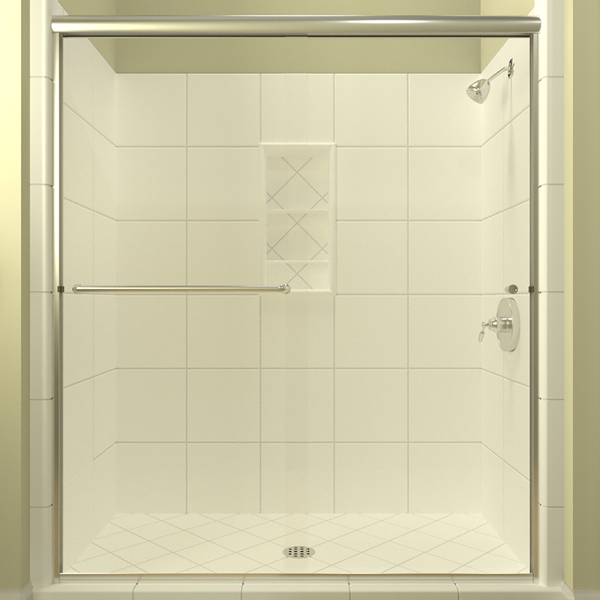 Details About Ese 66 X 70 38 Bypass Semi Frameless Shower Door Polished Chrome Left Opening