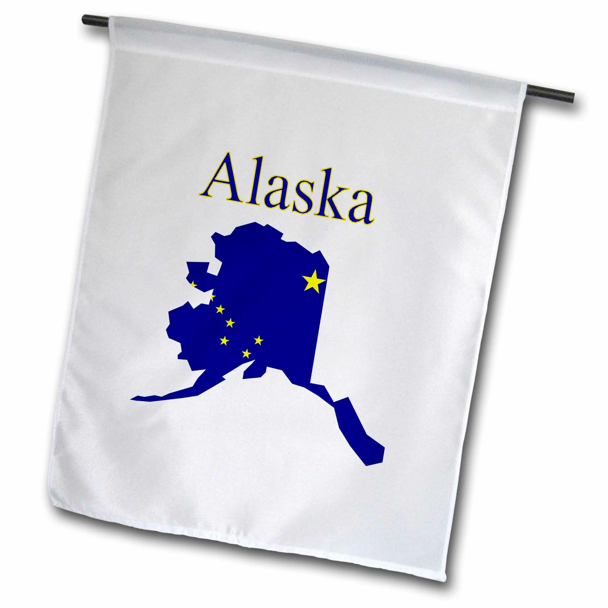 2x3 2/'x3/' State of Alaska Flag White Pole Kit Gold Ball Top