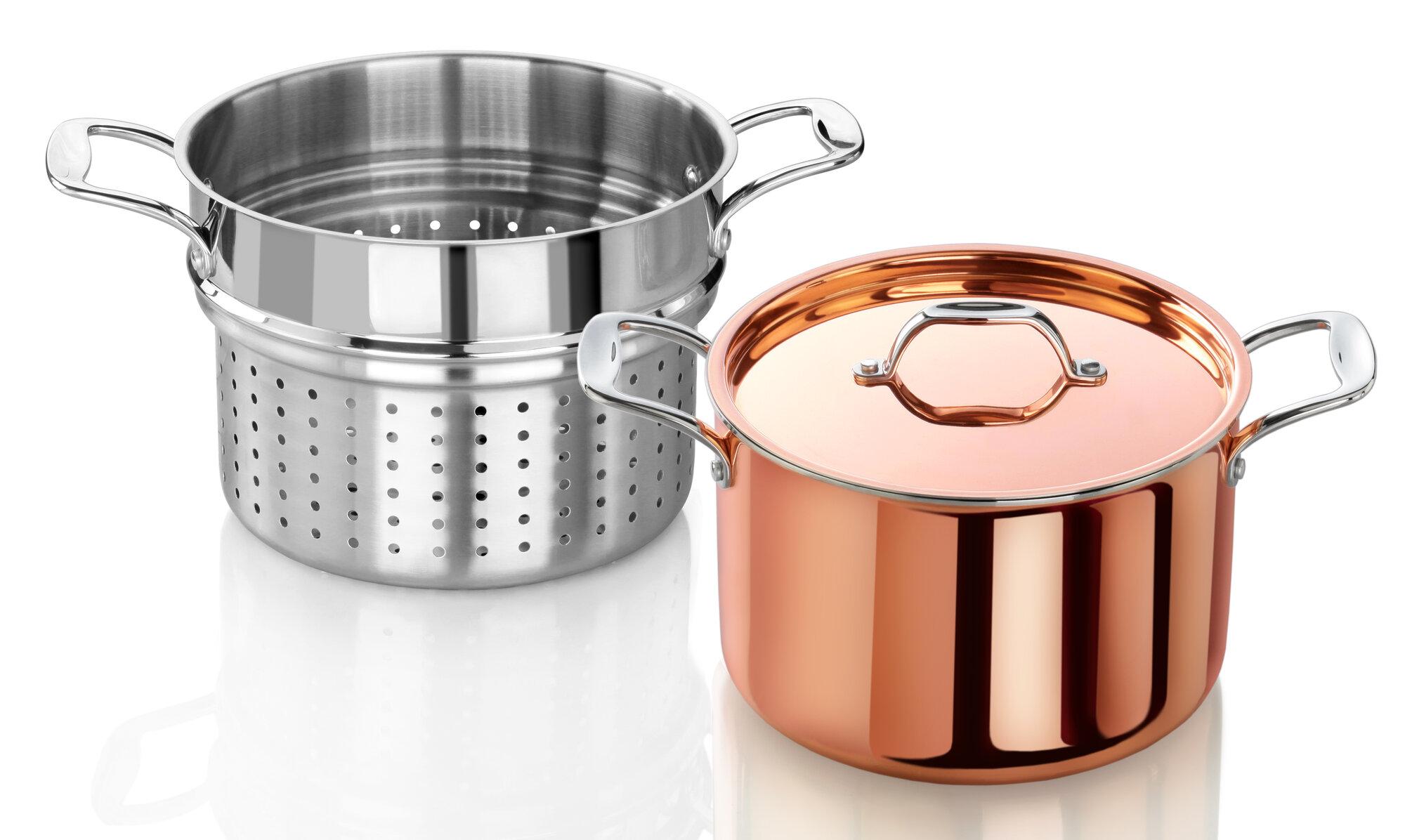 New Star Food Service Rain 7.5 qt. Tri-Ply Stock Pot with ...