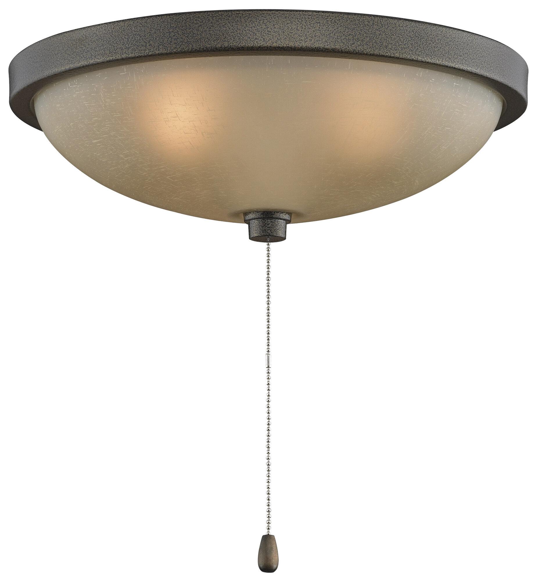 Fanimation 3 light bowl ceiling fan light kit ebay fanimation 3 light bowl ceiling fan light kit aloadofball Images
