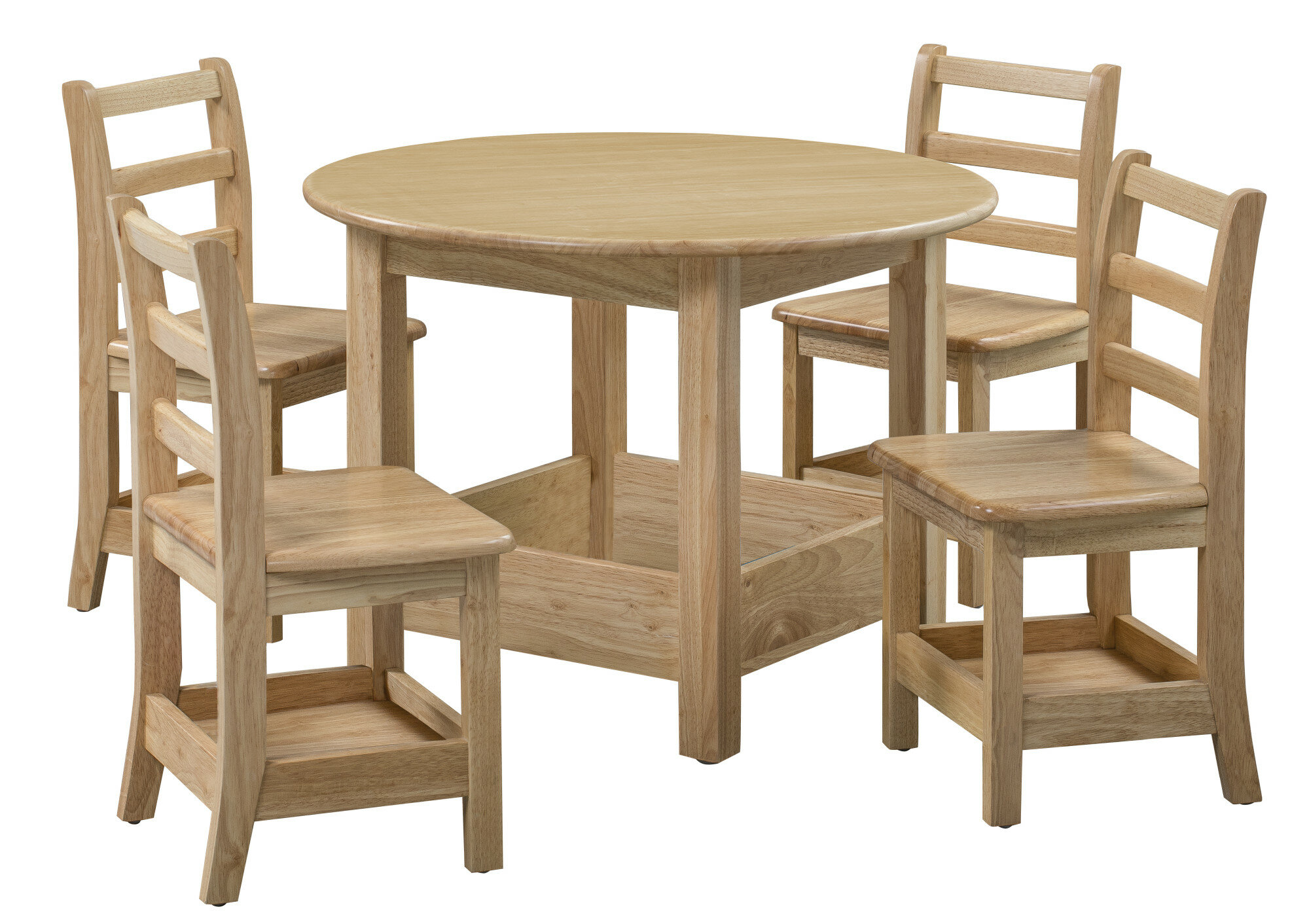 Ecr4kids Sit N Stash Kids 5 Piece Writing Table And Chair Set