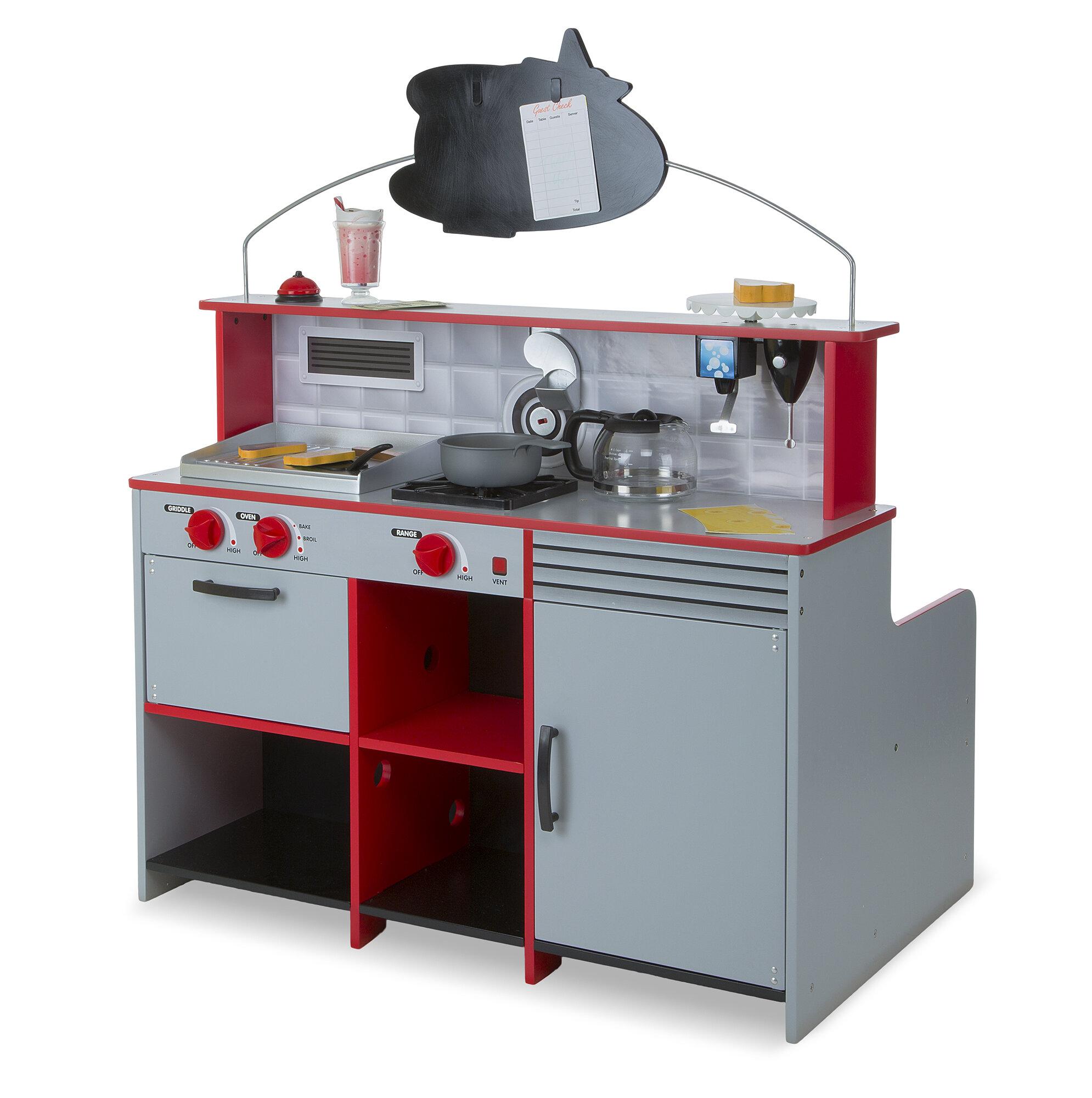 Details About Melissa Doug Star Diner Restaurant Kitchen Set