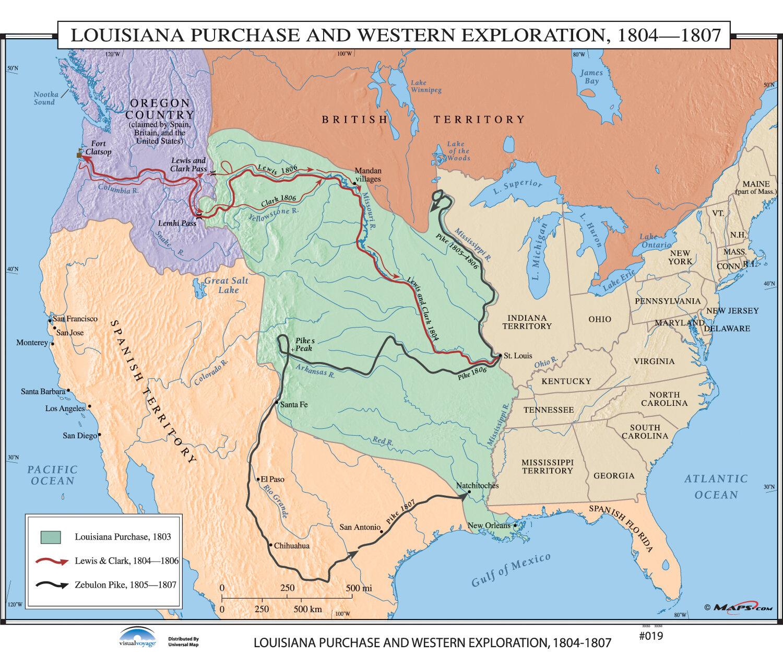 Universal Map U.S. History Wall Maps   Louisiana Purchase