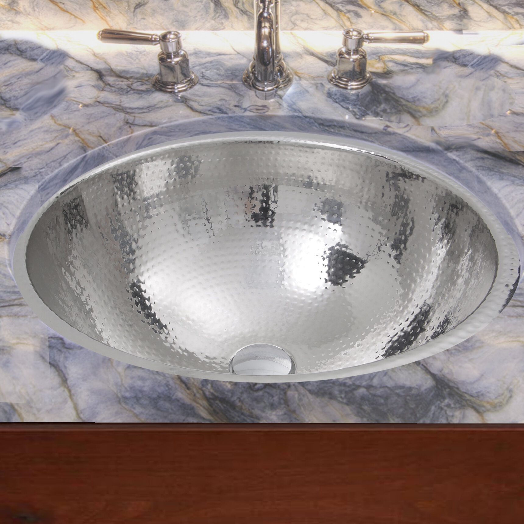 Details About Hand Hammered Stainless Steel Circular Undermount Bathroom Sink With Overflow