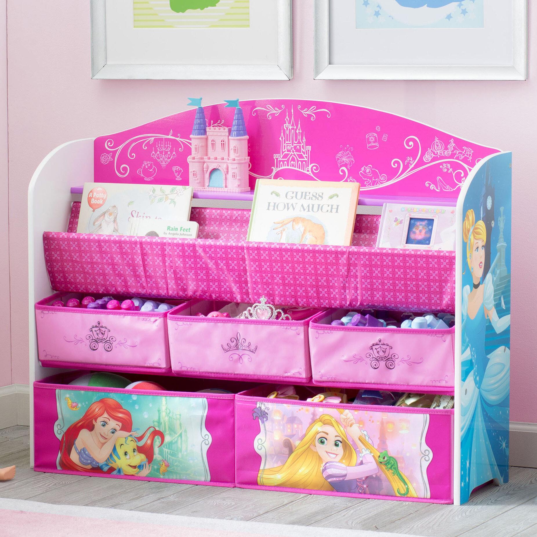 Delta Children Disney Princess Deluxe Book Toy Organizer 80213073251