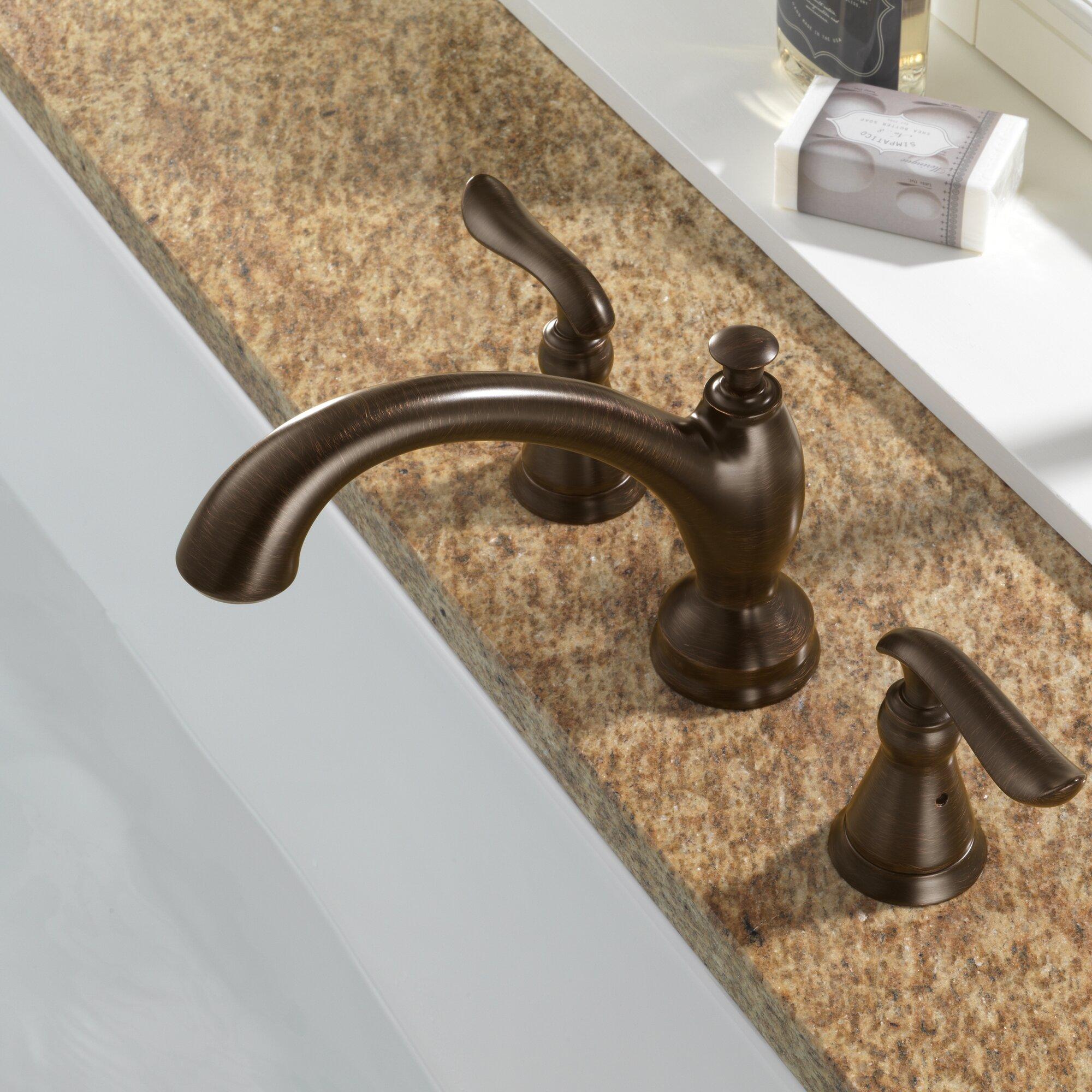 Delta Linden Venetian Bronze Deck Mount Roman Tub Filler Faucet Trim ...