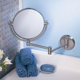 Bathroom Mirror Magnifying bathroom mirrors you'll love | wayfair