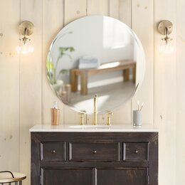 Bathroom Wall Mirror bathroom mirrors you'll love | wayfair