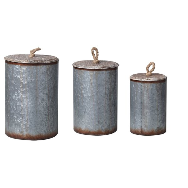 Transpac Imports Inc Lost And Found 3 Piece Metal Bin Set