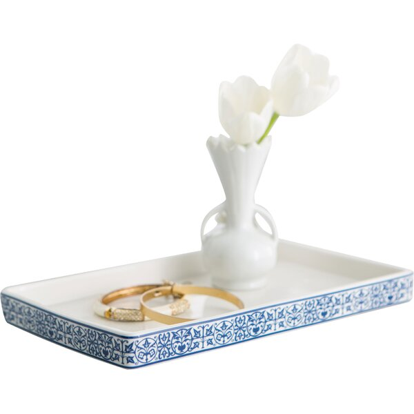 birch lane porcelain bathroom accessory tray  reviews  birch lane, Home decor
