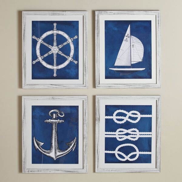 Birch Lane Knots Yacht Club Framed Print Birch Lane