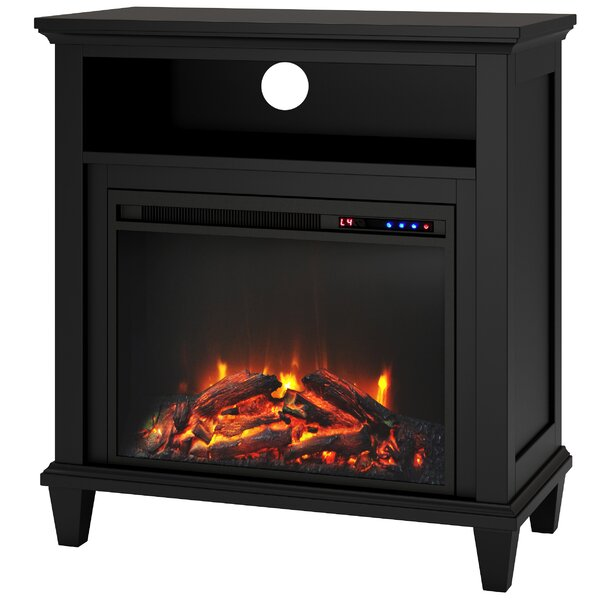Andover Media Console: Joseph Media Console With Electric Fireplace & Reviews