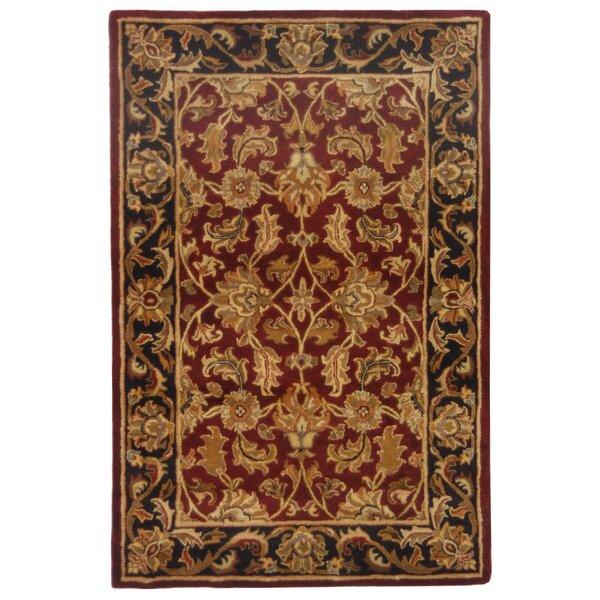 Tufted Indo Persian Wool Area Rug Ebth: Cranston Black Oriental Wool Hand-Tufted Area Rug
