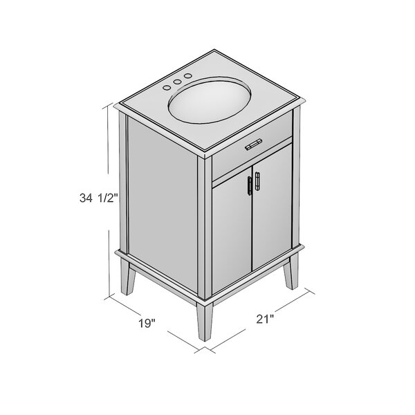Roman 21 amp quot  Single Bathroom Vanity. Roman 21 quot  Single Bathroom Vanity  amp  Reviews   Joss  amp  Main
