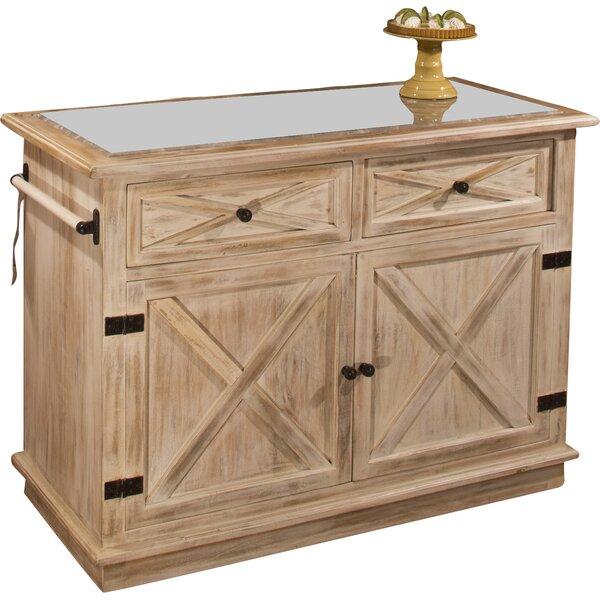 Glenwood Kitchen: Loon Peak Glenwood Springs Kitchen Island With Marble Top