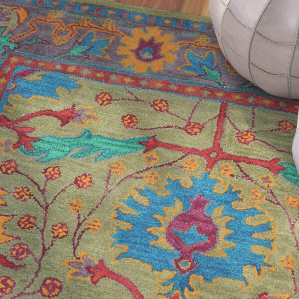 Tufted Indo Persian Wool Area Rug Ebth: Liza Taupe Oriental Wool Hand-Tufted Area Rug & Reviews