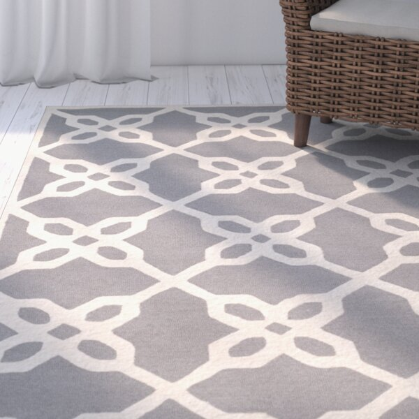 Claudine Ivory Amp Grey Geometric Wool Hand Tufted Area Rug