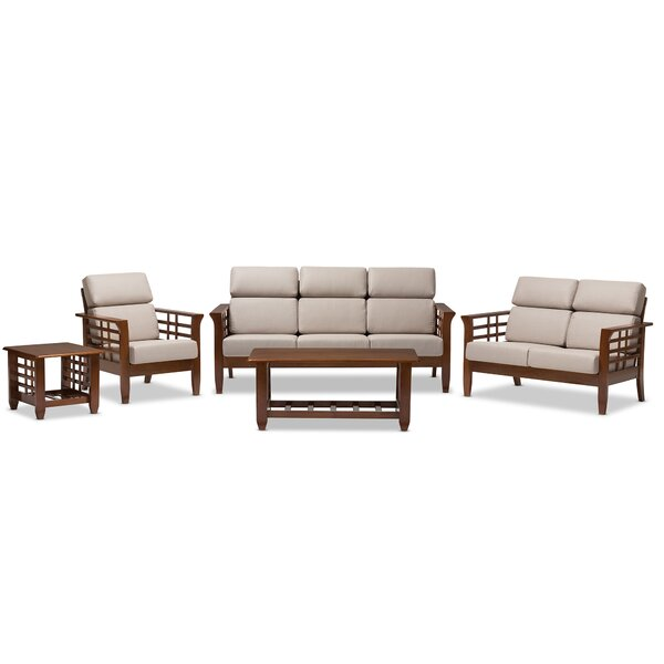 Anguila 5 piece living room set reviews joss main for 5 piece living room set