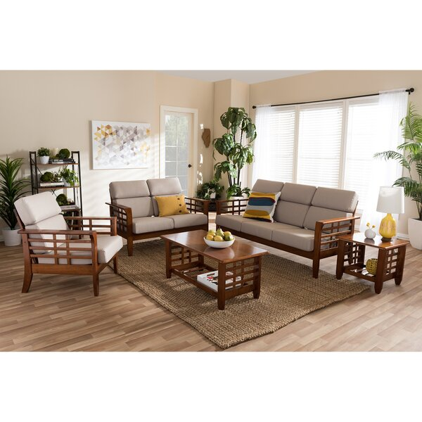 Anguila 5 piece living room set reviews joss main for Living room 5 piece sets