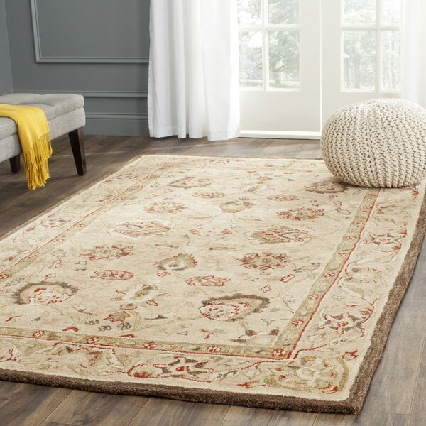 Dynasty Beige Oriental Wool Hand Tufted Area Rug Amp Reviews