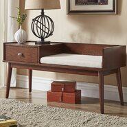 Alcorn Lake Wood Storage Entryway Bench