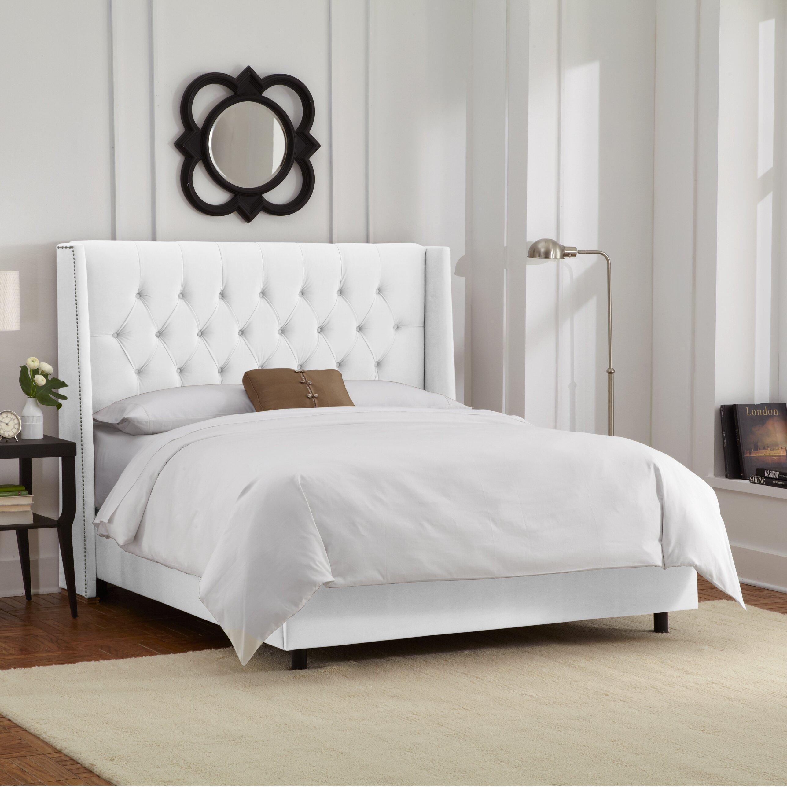 Skyline Bedroom Furniture Skyline Furniture Upholstered Panel Bed Reviews Wayfair